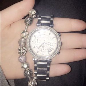 Michael kors watch and pandora charm bracelet